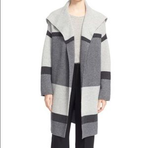 Vince Wool and Cashmere Colorblock Cardigan Small